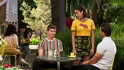 Hendrix Greyson, Yashvi Rebecchi, Pierce Greyson in Neighbours Episode 8266