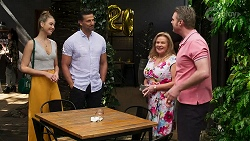 Chloe Brennan, Pierce Greyson, Sheila Canning, Gary Canning in Neighbours Episode 8266