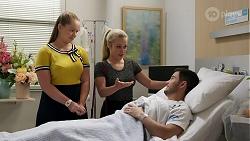Harlow Robinson, Roxy Willis, David Tanaka in Neighbours Episode 8268