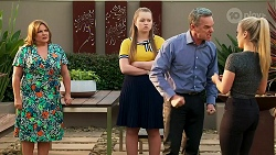 Terese Willis, Harlow Robinson, Paul Robinson, Roxy Willis in Neighbours Episode 8268