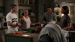 Hendrix Greyson, Bea Nilsson, Finn Kelly, Elly Conway in Neighbours Episode 8270