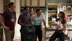 Kyle Canning, Aaron Brennan, David Tanaka, Elly Conway, Aster Conway in Neighbours Episode 8272