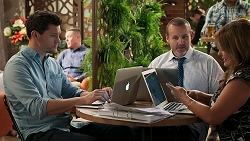 Finn Kelly, Toadie Rebecchi, Terese Willis in Neighbours Episode 8272