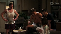 Kyle Canning, Aaron Brennan, David Tanaka, Aster Conway, Elly Conway in Neighbours Episode 8272