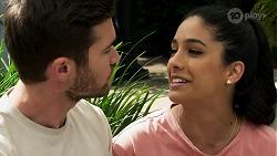 Ned Willis, Yashvi Rebecchi in Neighbours Episode 8273