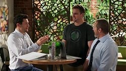 Finn Kelly, Kyle Canning, Toadie Rebecchi in Neighbours Episode 8276