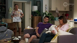 Aaron Brennan, David Tanaka, Aster Conway, Elly Conway in Neighbours Episode 8277