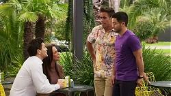 Finn Kelly, Bea Nilsson, Aaron Brennan, David Tanaka in Neighbours Episode 8277