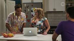 Aaron Brennan, Sheila Canning, David Tanaka in Neighbours Episode 8277