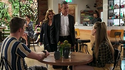 Hendrix Greyson, Terese Willis, Paul Robinson, Chloe Brennan in Neighbours Episode 8279