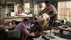 Kyle Canning, Aaron Brennan, Aster Conway, David Tanaka in Neighbours Episode 8279