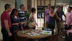 Paul Robinson, Terese Willis, Karl Kennedy, Susan Kennedy, Kyle Canning, Elly Conway, Aaron Brennan, David Tanaka in Neighbours Episode 8279