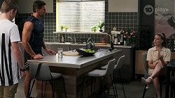 Hendrix Greyson, Pierce Greyson, Chloe Brennan in Neighbours Episode 8279