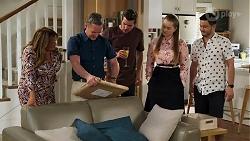 Terese Willis, Paul Robinson, Ned Willis, Harlow Robinson, David Tanaka in Neighbours Episode 8280