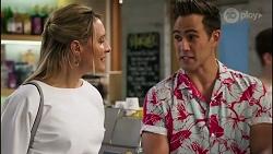 Lisa Rowsthorn, Aaron Brennan in Neighbours Episode 8282