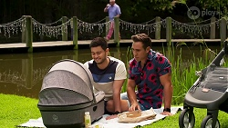 David Tanaka, Aaron Brennan in Neighbours Episode 8283