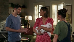 Finn Kelly, Elly Conway, Aster Conway, Bea Nilsson in Neighbours Episode 8284