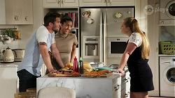 Ned Willis, Yashvi Rebecchi, Harlow Robinson in Neighbours Episode 8285