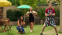 Dipi Rebecchi, Harlow Robinson, Gary Canning in Neighbours Episode 8285