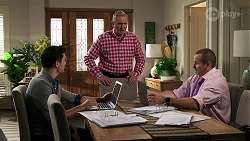 Finn Kelly, Karl Kennedy, Toadie Rebecchi in Neighbours Episode 8288