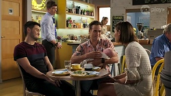 David Tanaka, Hendrix Greyson, Aaron Brennan, Aster Conway, Elly Conway in Neighbours Episode 8290