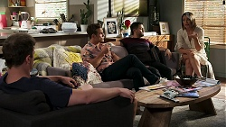 Kyle Canning, Aaron Brennan, David Tanaka, Elly Conway in Neighbours Episode 8291