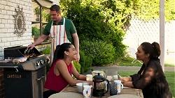 Gary Canning, Yashvi Rebecchi, Dipi Rebecchi in Neighbours Episode 8292
