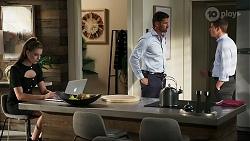 Chloe Brennan, Pierce Greyson, Hendrix Greyson in Neighbours Episode 8292