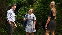 Hendrix Greyson, Harlow Robinson, Chloe Brennan in Neighbours Episode 8292