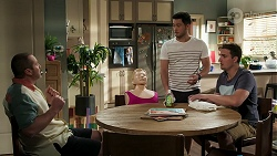 Toadie Rebecchi, David Tanaka, Kyle Canning in Neighbours Episode 8293