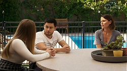 Harlow Robinson, David Tanaka, Elly Conway in Neighbours Episode 8294