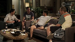 Finn Kelly, Kyle Canning, David Tanaka, Toadie Rebecchi in Neighbours Episode 8294