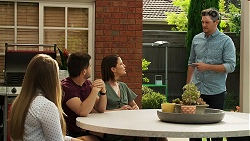 Harlow Robinson, David Tanaka, Elly Conway, Finn Kelly in Neighbours Episode 8294