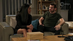 Yashvi Rebecchi, Ned Willis in Neighbours Episode 8296