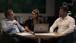Paul Robinson, Chloe Brennan, Pierce Greyson in Neighbours Episode 8296