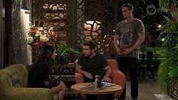 Yashvi Rebecchi, Ned Willis, Kyle Canning in Neighbours Episode 8296