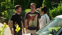 Ned Willis, Kyle Canning, Yashvi Rebecchi in Neighbours Episode 8296