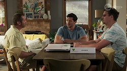 Toadie Rebecchi, Finn Kelly, Kyle Canning in Neighbours Episode 8298