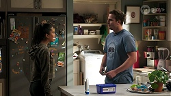 Yashvi Rebecchi, Kyle Canning in Neighbours Episode 8300
