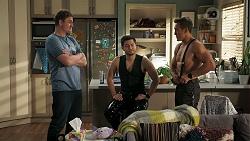 Kyle Canning, David Tanaka, Aaron Brennan in Neighbours Episode 8301