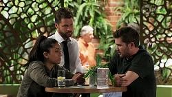 Yashvi Rebecchi, Mark Brennan, Ned Willis in Neighbours Episode 8301