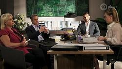 Lucy Robinson, Paul Robinson, Pierce Greyson, Chloe Brennan in Neighbours Episode 8301