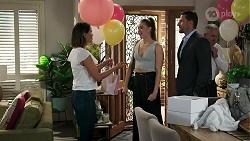 Elly Conway, Chloe Brennan, Pierce Greyson in Neighbours Episode 8303