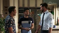 Aaron Brennan, David Tanaka, Mark Brennan in Neighbours Episode 8303