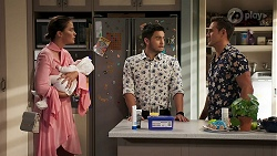 Elly Conway, Aster Conway, David Tanaka, Aaron Brennan in Neighbours Episode 8303