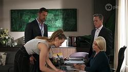 Pierce Greyson, Chloe Brennan, Paul Robinson, Lucy Robinson in Neighbours Episode 8303