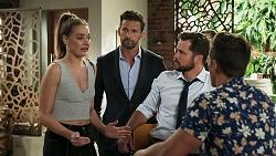 Chloe Brennan, Pierce Greyson, Mark Brennan, Aaron Brennan in Neighbours Episode 8303
