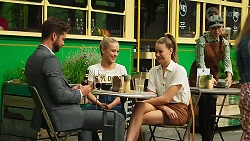 Mark Brennan, Roxy Willis, Chloe Brennan in Neighbours Episode 8305