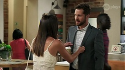 Elly Conway, Paige Smith, Mark Brennan in Neighbours Episode 8305