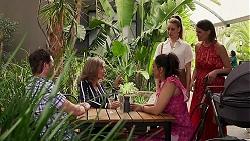 Shane Rebecchi, Jane Harris, Dipi Rebecchi, Chloe Brennan, Elly Conway in Neighbours Episode 8305